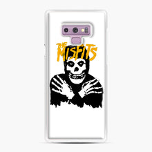 Load image into Gallery viewer, The Misfits Skull Yellow Logo Casual Samsung Galaxy Note 9 Case, White Plastic Case | Webluence.com