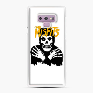 The Misfits Skull Yellow Logo Casual Samsung Galaxy Note 9 Case, White Plastic Case | Webluence.com