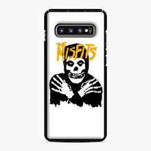 Load image into Gallery viewer, The Misfits Skull Yellow Logo Casual Samsung Galaxy S10 Plus Case, Black Plastic Case | Webluence.com