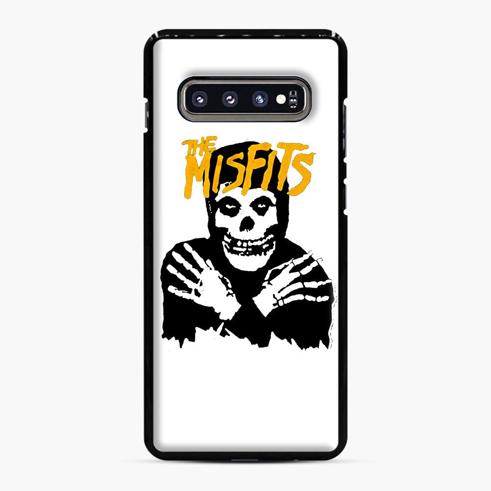 The Misfits Skull Yellow Logo Casual Samsung Galaxy S10 Plus Case, Black Plastic Case | Webluence.com