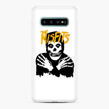 Load image into Gallery viewer, The Misfits Skull Yellow Logo Casual Samsung Galaxy S10 Plus Case, White Rubber Case | Webluence.com