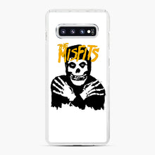 Load image into Gallery viewer, The Misfits Skull Yellow Logo Casual Samsung Galaxy S10 Plus Case, White Plastic Case | Webluence.com