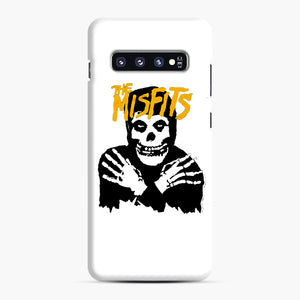 The Misfits Skull Yellow Logo Casual Samsung Galaxy S10 Plus Case, Snap Case | Webluence.com