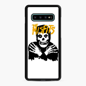 The Misfits Skull Yellow Logo Casual Samsung Galaxy S10 Plus Case, Black Rubber Case | Webluence.com