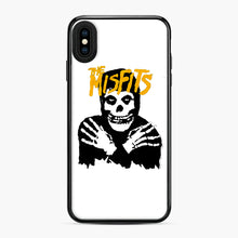 Load image into Gallery viewer, The Misfits Skull Yellow Logo Casual iPhone XS Max Case, Black Plastic Case | Webluence.com