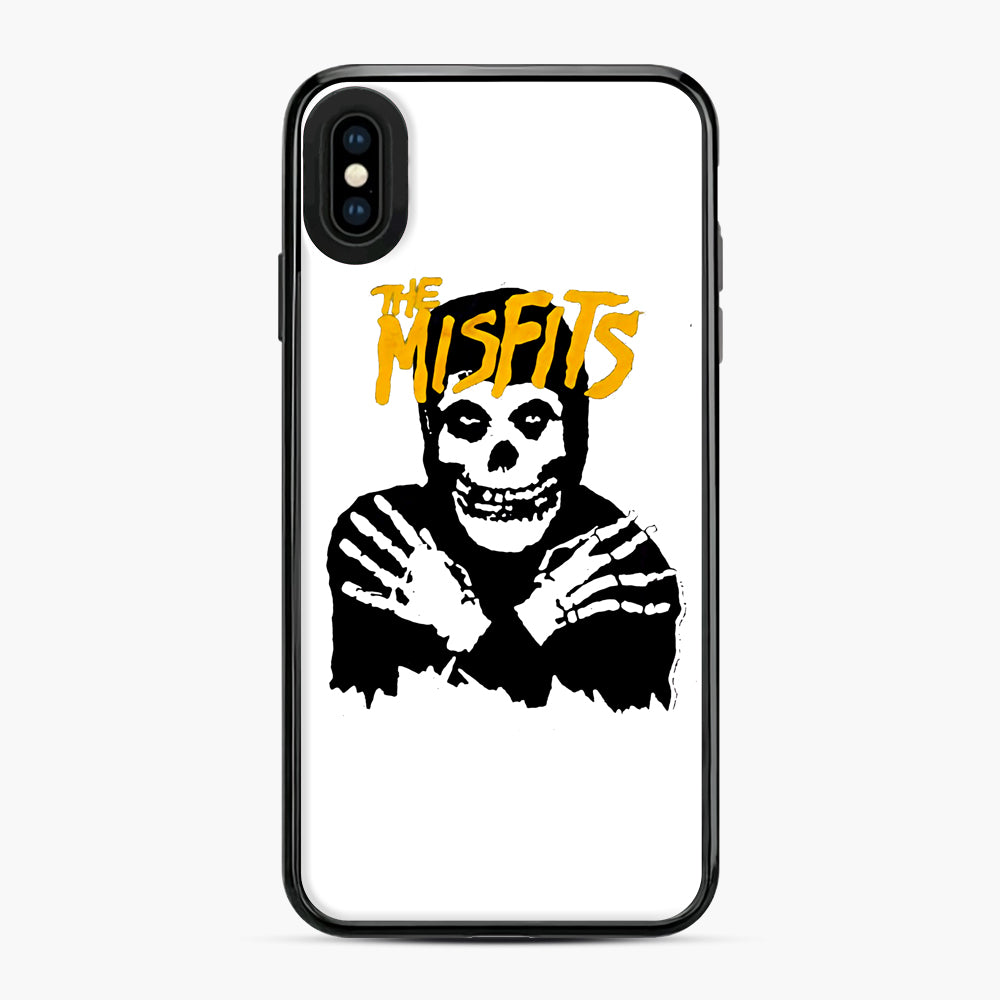 The Misfits Skull Yellow Logo Casual iPhone XS Max Case, Black Plastic Case | Webluence.com