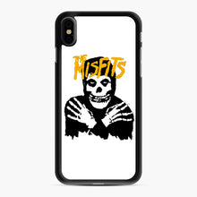 Load image into Gallery viewer, The Misfits Skull Yellow Logo Casual iPhone XS Max Case, Black Rubber Case | Webluence.com