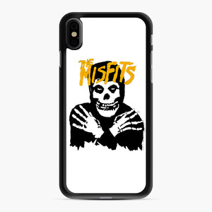 The Misfits Skull Yellow Logo Casual iPhone XS Max Case, Black Rubber Case | Webluence.com