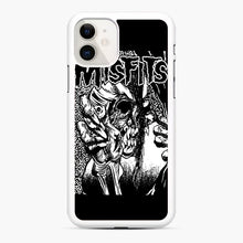 Load image into Gallery viewer, The Misfits evil eye iPhone 11 Case, White Rubber Case | Webluence.com
