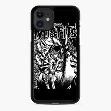 Load image into Gallery viewer, The Misfits evil eye iPhone 11 Case, Black Rubber Case | Webluence.com
