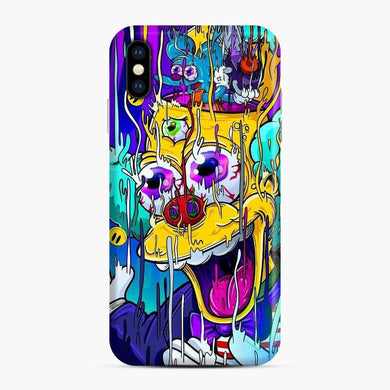 The Simpson House Cartoon 3 iPhone XS Max Case, Snap Case
