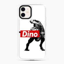 Load image into Gallery viewer, The Supreme of All Dinosaurs iPhone 11 Case, White Plastic Case | Webluence.com