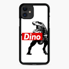 Load image into Gallery viewer, The Supreme of All Dinosaurs iPhone 11 Case, Black Rubber Case | Webluence.com