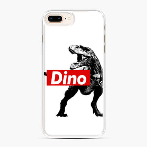 The Supreme of All Dinosaurs iPhone 7,8 Plus Case, White Plastic Case | Webluence.com