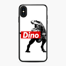 Load image into Gallery viewer, The Supreme of All Dinosaurs iPhone XS Max Case, Black Plastic Case | Webluence.com