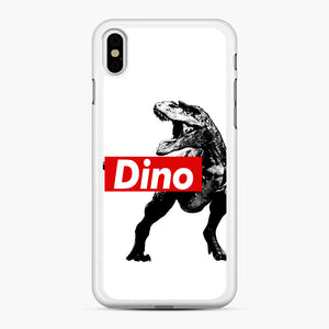 The Supreme of All Dinosaurs iPhone XS Max Case, White Rubber Case | Webluence.com