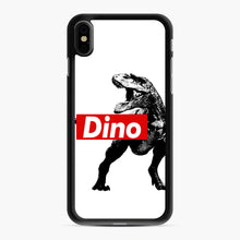 Load image into Gallery viewer, The Supreme of All Dinosaurs iPhone XS Max Case, Black Rubber Case | Webluence.com
