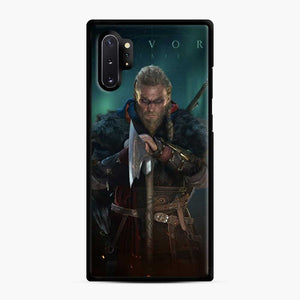 The Viking Eivor Assassin'S Creed Valhalla Samsung Galaxy Note 10 Plus Case, Black Rubber Case