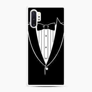 Tie Tuxedo Wedding Prom Groom Funny Tux Samsung Galaxy Note 10 Plus Case, White Rubber Case | Webluence.com