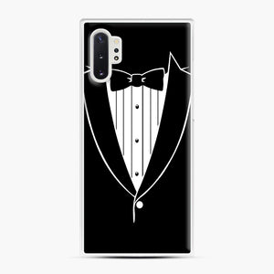 Tie Tuxedo Wedding Prom Groom Funny Tux Samsung Galaxy Note 10 Plus Case, White Plastic Case | Webluence.com