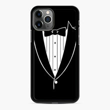 Load image into Gallery viewer, Tie Tuxedo Wedding Prom Groom Funny Tux iPhone 11 Pro Case, Black Rubber Case | Webluence.com