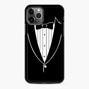 Tie Tuxedo Wedding Prom Groom Funny Tux iPhone 11 Pro Case, Black Rubber Case | Webluence.com