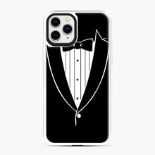 Load image into Gallery viewer, Tie Tuxedo Wedding Prom Groom Funny Tux iPhone 11 Pro Case, White Plastic Case | Webluence.com