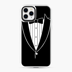 Tie Tuxedo Wedding Prom Groom Funny Tux iPhone 11 Pro Case, White Plastic Case | Webluence.com