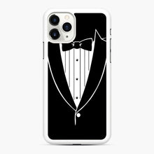 Load image into Gallery viewer, Tie Tuxedo Wedding Prom Groom Funny Tux iPhone 11 Pro Case, White Rubber Case | Webluence.com