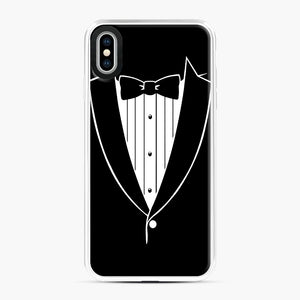 Tie Tuxedo Wedding Prom Groom Funny Tux iPhone XS Max Case, White Plastic Case | Webluence.com