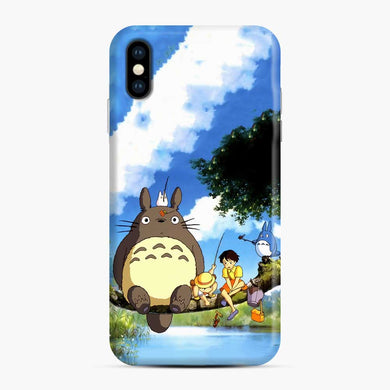 Totoro Fishing Satsuki and Mei iPhone XS Max Case, Snap Case