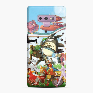 Totoro Satsuki Mei Howls Laputa Porco Rosso sofie Samsung Galaxy Note 9 Case, Snap Case