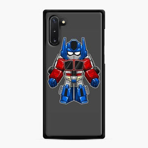 Transformers 30 Samsung Galaxy Note 10 Case, Black Rubber Case