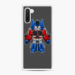Transformers 30 Samsung Galaxy Note 10 Case, White Rubber Case