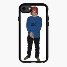 Load image into Gallery viewer, Trippie Redd Doodle iPhone 7 / 8 Case, Black Rubber Case