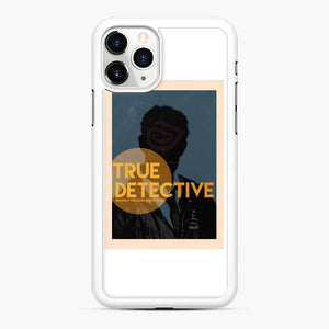 True Detective Rust Cohle Poster iPhone 11 Pro Case, White Rubber Case