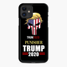 Load image into Gallery viewer, Trump 2020 Punisher Tito Ortiz Donald Trump iPhone 11 Case, Black Rubber Case | Webluence.com