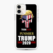 Load image into Gallery viewer, Trump 2020 Punisher Tito Ortiz Donald Trump iPhone 11 Case, White Rubber Case | Webluence.com