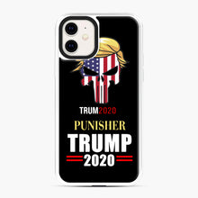 Load image into Gallery viewer, Trump 2020 Punisher Tito Ortiz Donald Trump iPhone 11 Case, White Plastic Case | Webluence.com