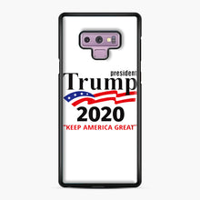 Load image into Gallery viewer, Trump Keep America Great 2020 Samsung Galaxy Note 9 Case, Black Plastic Case | Webluence.com
