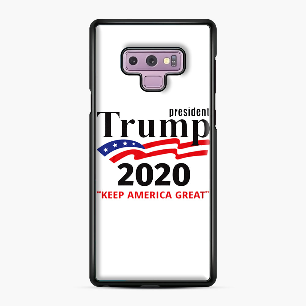 Trump Keep America Great 2020 Samsung Galaxy Note 9 Case, Black Plastic Case | Webluence.com