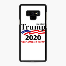 Load image into Gallery viewer, Trump Keep America Great 2020 Samsung Galaxy Note 9 Case, Black Rubber Case | Webluence.com
