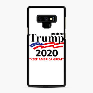 Trump Keep America Great 2020 Samsung Galaxy Note 9 Case, Black Rubber Case | Webluence.com