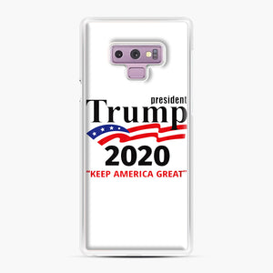 Trump Keep America Great 2020 Samsung Galaxy Note 9 Case, White Plastic Case | Webluence.com