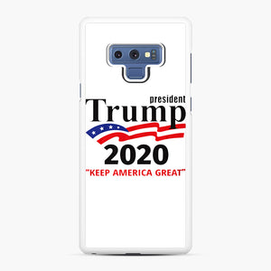 Trump Keep America Great 2020 Samsung Galaxy Note 9 Case, White Rubber Case | Webluence.com