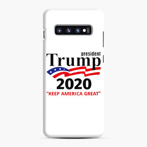Trump Keep America Great 2020 Samsung Galaxy S10 Plus Case, Snap Case | Webluence.com