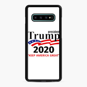 Trump Keep America Great 2020 Samsung Galaxy S10 Plus Case, Black Rubber Case | Webluence.com