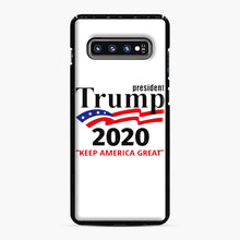 Load image into Gallery viewer, Trump Keep America Great 2020 Samsung Galaxy S10 Plus Case, Black Plastic Case | Webluence.com