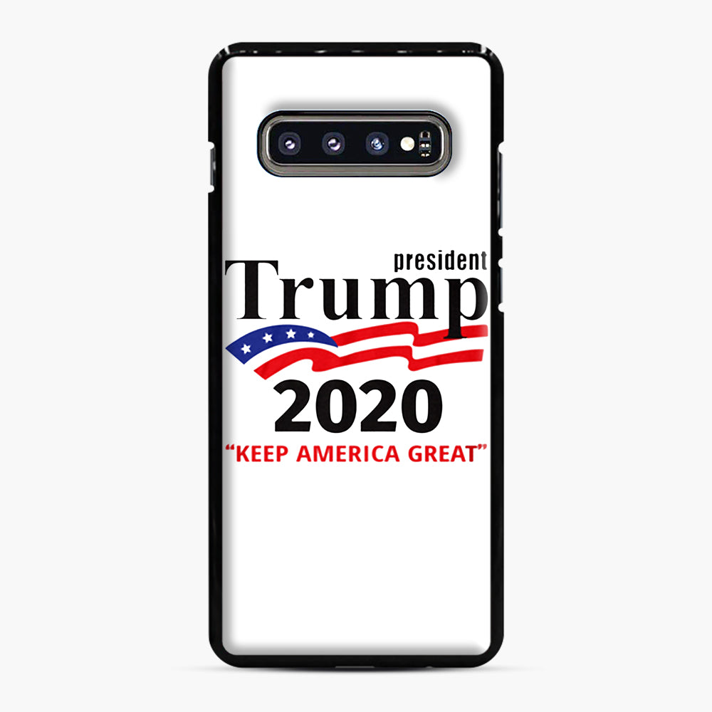 Trump Keep America Great 2020 Samsung Galaxy S10 Plus Case, Black Plastic Case | Webluence.com