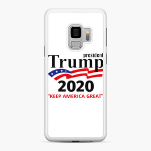 Trump Keep America Great 2020 Samsung Galaxy S9 Case, White Rubber Case | Webluence.com